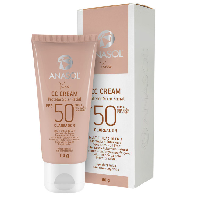 Anasol CC Cream Facial Clareador Fps50 60g