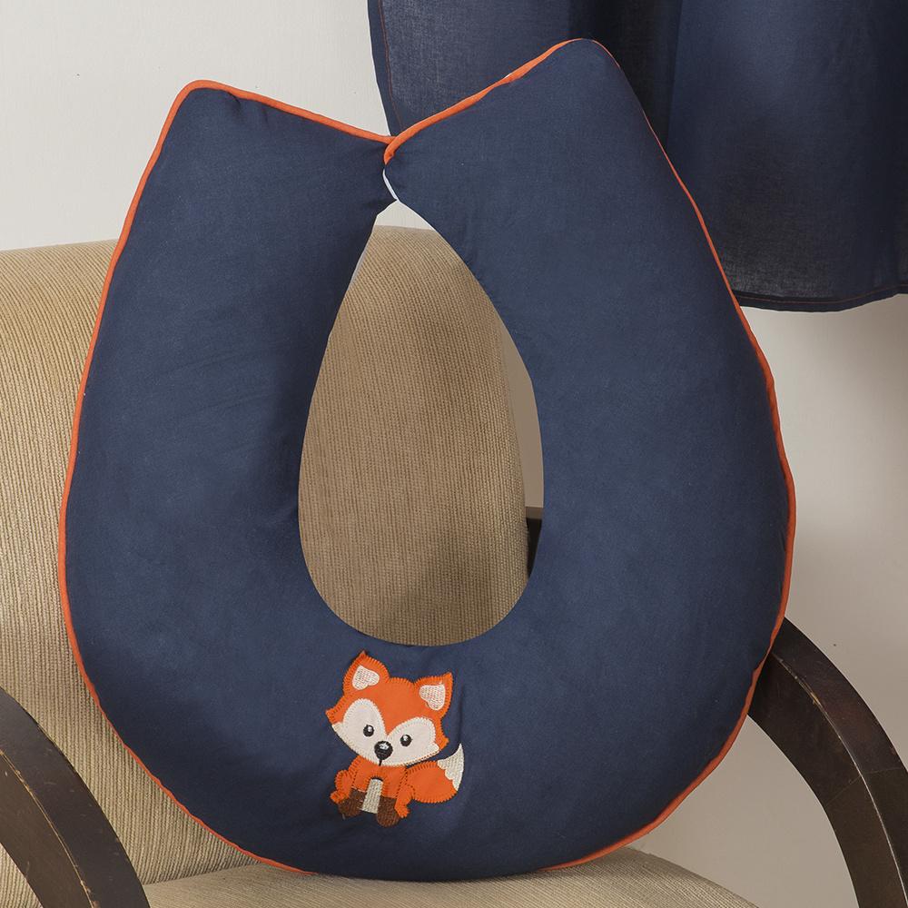 Almofada De Amamentação De Bebe 60cm x 60cm 100% Algodão Menino Raposinha - Azul Marinho