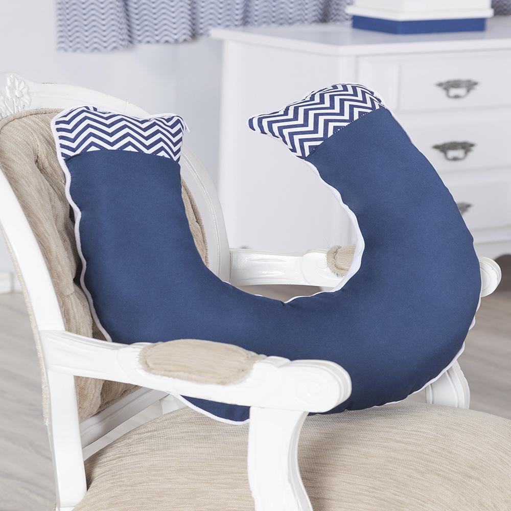 Almofada De Amamentação De Bebe 60cm x 60cm 100% Algodão Menino Sonho Encantado - Azul Marinho