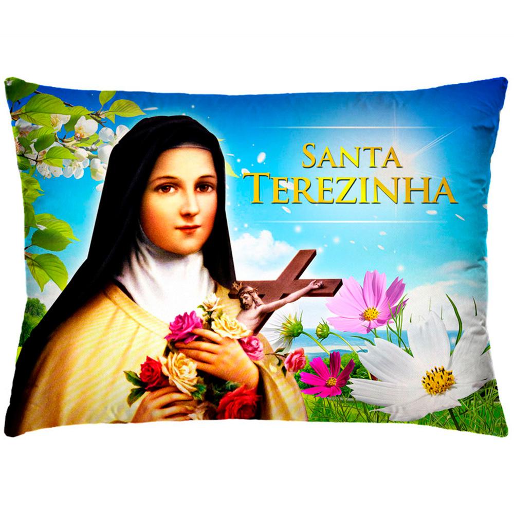 Almofada Retangular 35cm x 26cm + Capa Com Estampa De Imagem de Santos Ref.: T161