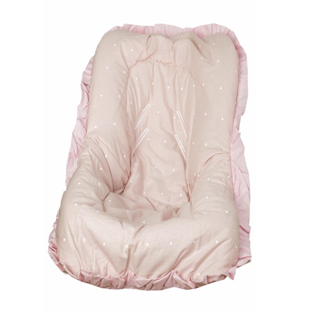 Capa Para Bebê Conforto Modelo De Até 13 kg 100% Algodão Cherie Premium - Rosa