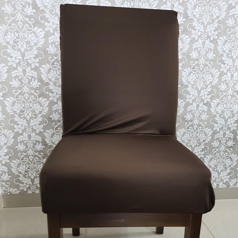 Capa Para Cadeira De Jantar Em Malha Gel Lisa - Tabaco