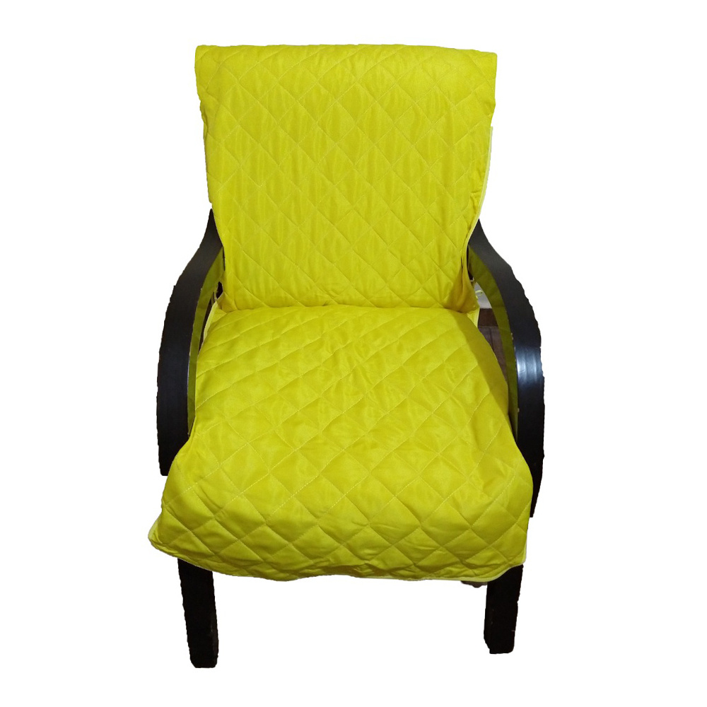 Capa Para Cadeira Poltrona Matelada Sem Braços Com Fita De Fixação E Assento De 55Cm - Amarelo