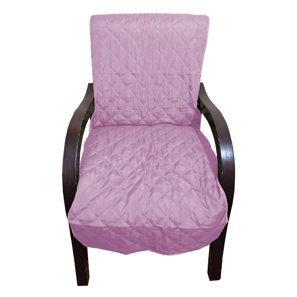 Capa Para Cadeira Poltrona Matelada Sem Braços Com Fita De Fixação E Assento De 55Cm - Lilás
