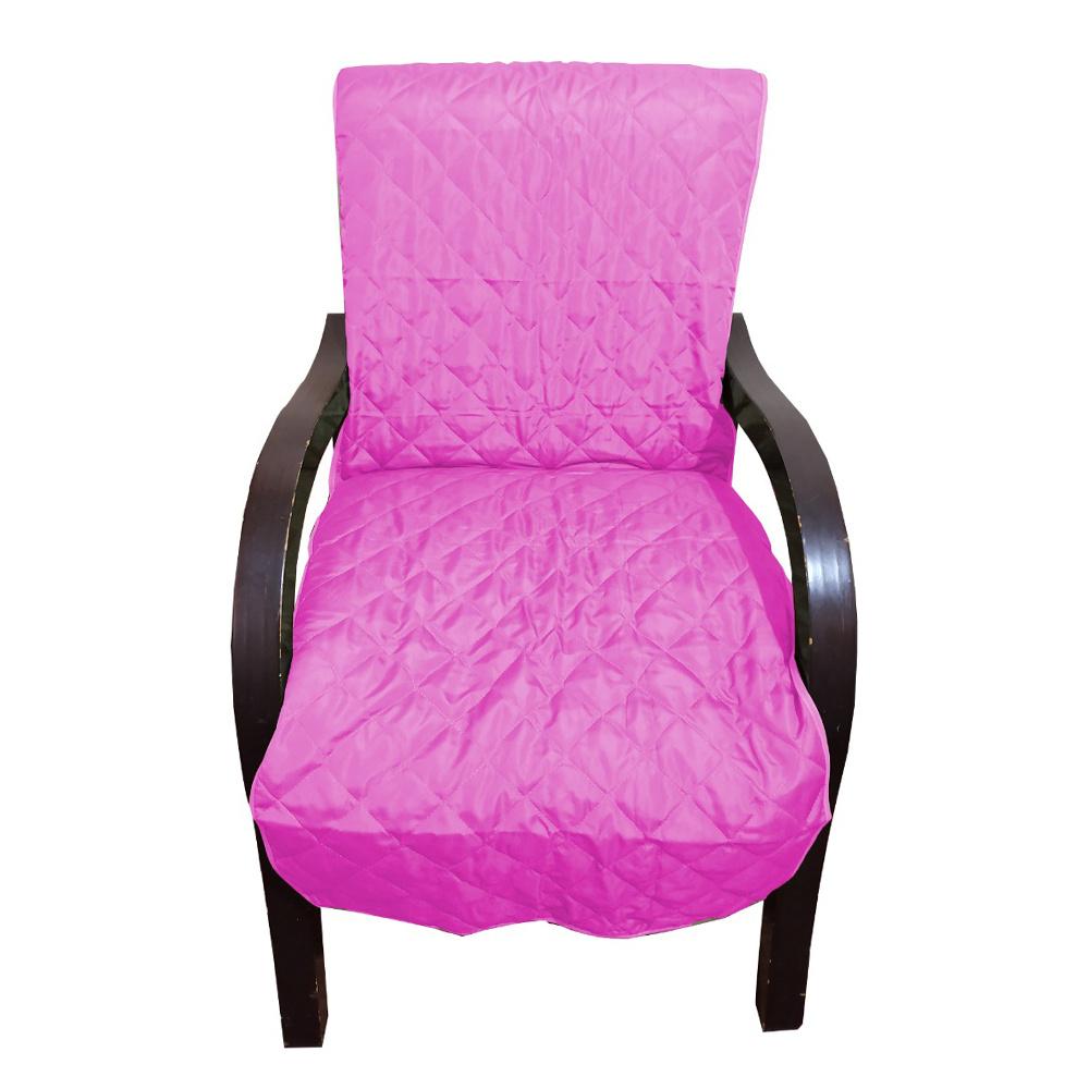 Capa Para Cadeira Poltrona Matelada Sem Braços Com Fita De Fixação E Assento De 55Cm - Rosa