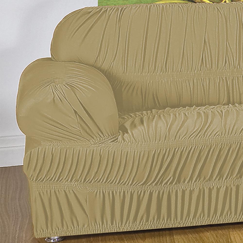 Capa Protetora De Sofá Em Malha Gel Com 21 Elásticos 1 Lugar - Bege