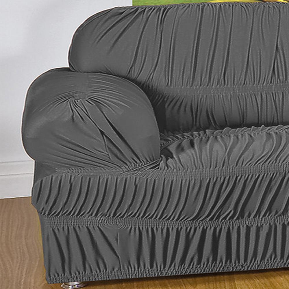 Capa Protetora De Sofá Em Malha Gel Com 21 Elásticos 1 Lugar - Cinza