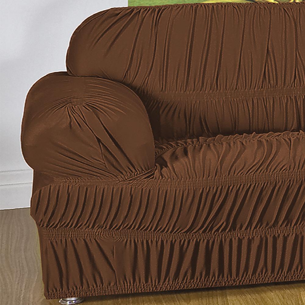 Capa Protetora De Sofá Em Malha Gel Com 21 Elásticos 1 Lugar - Tabaco