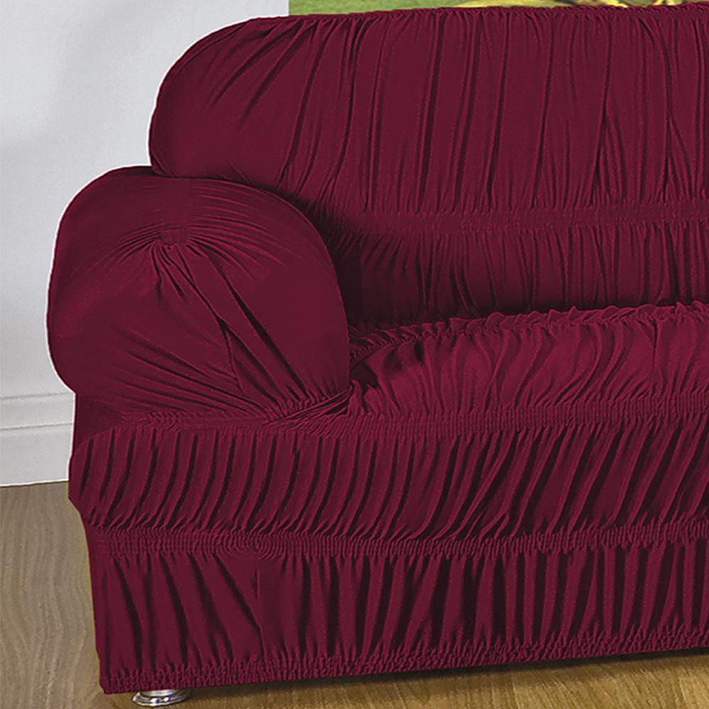 Capa Protetora De Sofá Em Malha Gel Com 21 Elásticos 1 Lugar - Vinho
