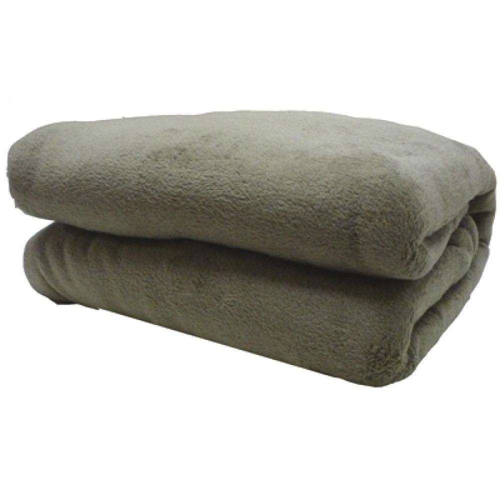 Cobertor Manta Mantinha Para Bebê 1,10m X 80cm Microfibra Lisa - Cáqui