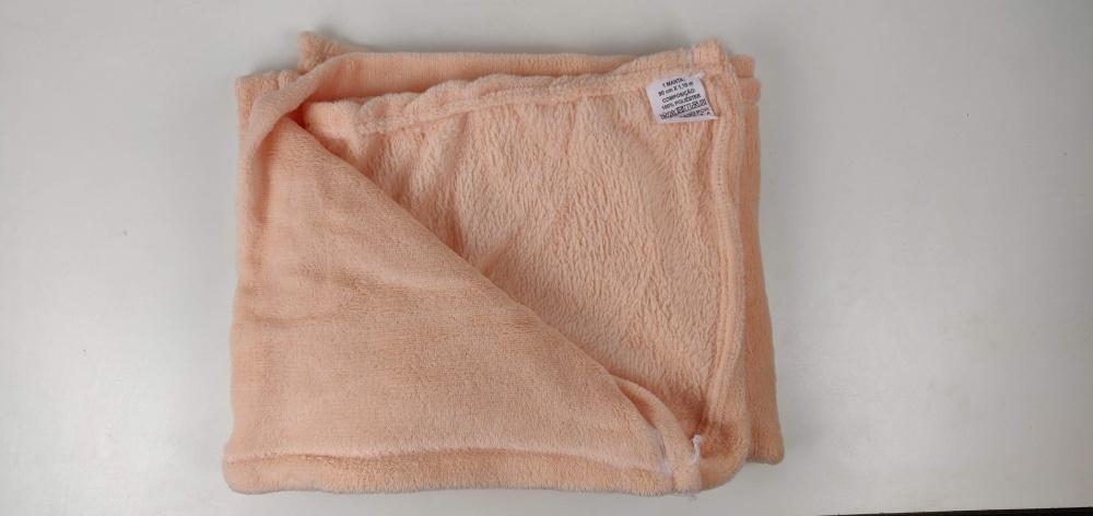 Cobertor Manta Mantinha Para Bebê 1,10m X 80cm Microfibra Lisa - Salmão