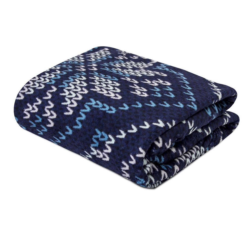 Manta Soft Fleece Microfibra Felpuda Casal 2,00m X 1,80m Com Toque Aveludado - Tricot