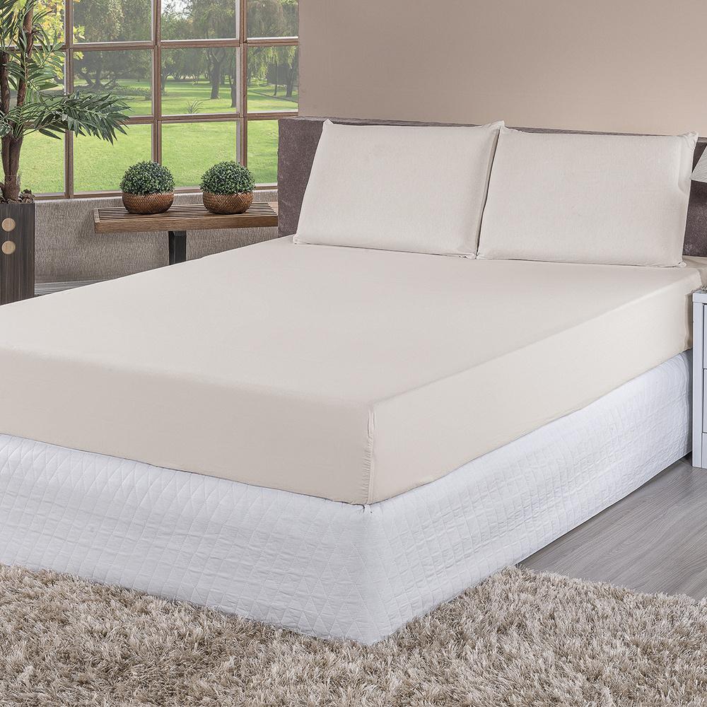Kit 04 Protetores De Travesseiro Impermeável 100% PVC Para Travesseiro 70cm x 50cm - Palha