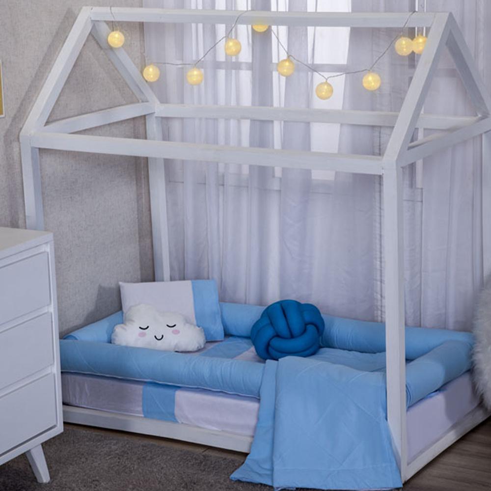 Kit Montessoriana Para Bebê Percal 150 Fios 10 Peças Moderninhos - Blue