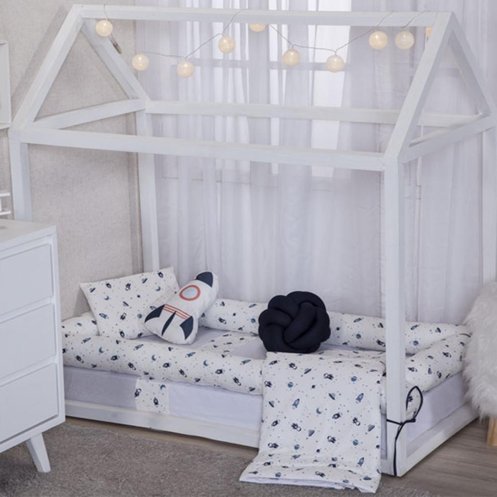 Kit Montessoriana Para Bebê Percal 150 Fios 10 Peças Moderninhos - Space