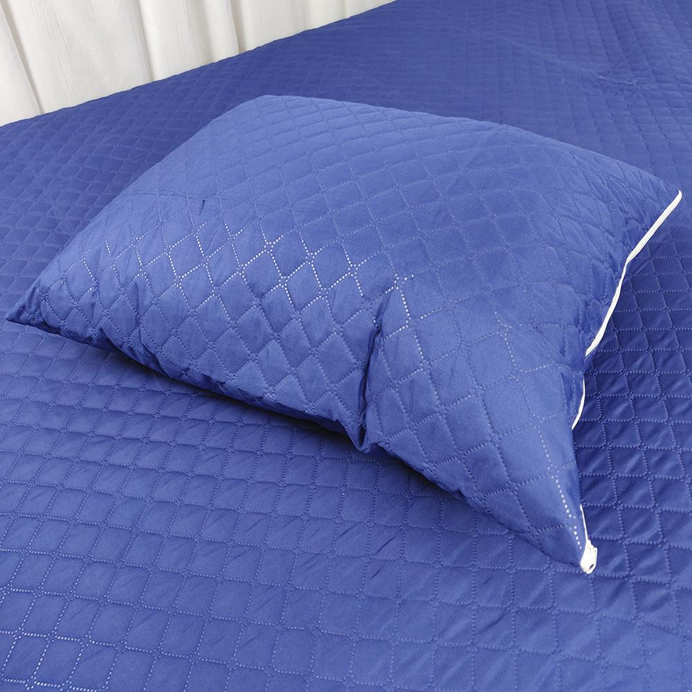 Protetor De Travesseiro Impermeável Matelado Ultrassônico RL Capas 70cm X 50cm Azul