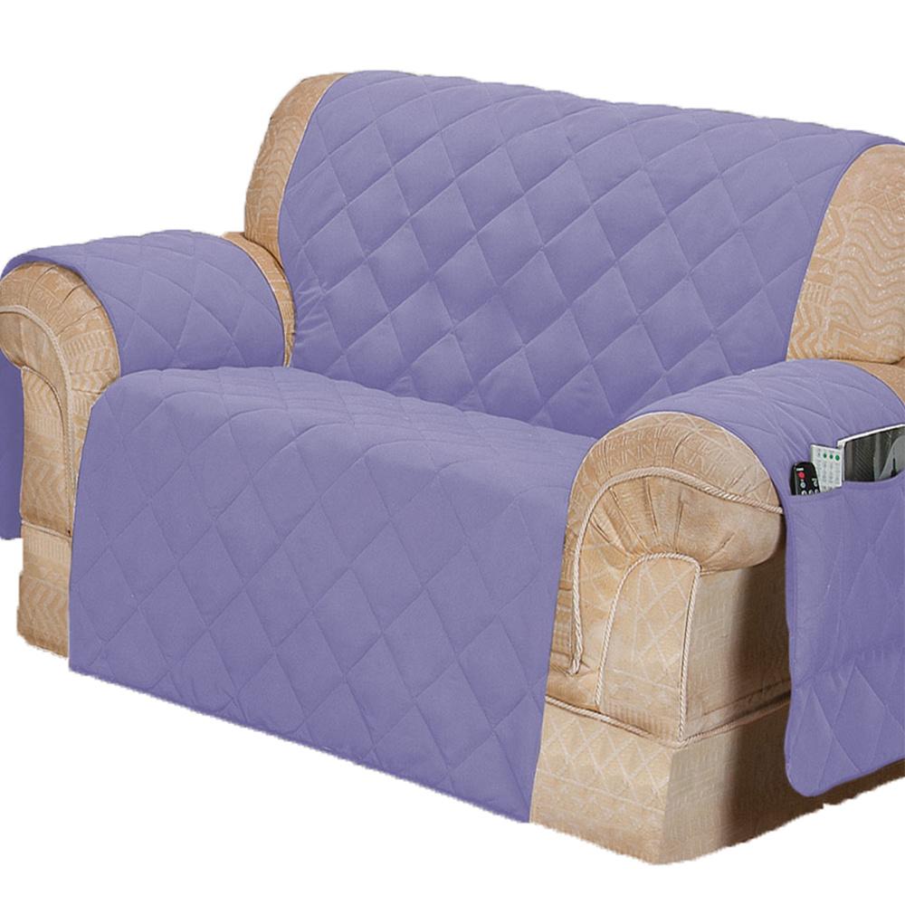 Protetor Para Sofá De 02 Lugares Com Assento De 1,10M Microfibra Matelado - Lilás