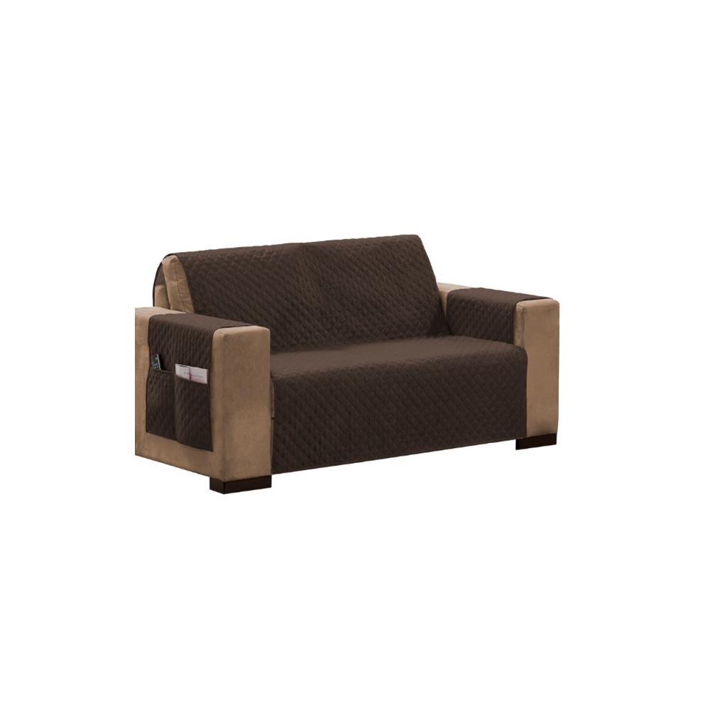 Protetor Para Sofá Impermeável De 03 Lugares Com Assento De 1,60M Matelado Ultrassônico - Tabaco