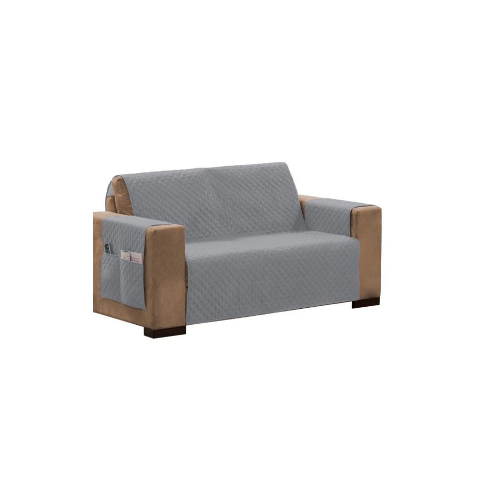 Protetor Para Sofá Impermeável De 03 Lugares Com Assento De 1,80M Matelado Ultrassônico - Cinza
