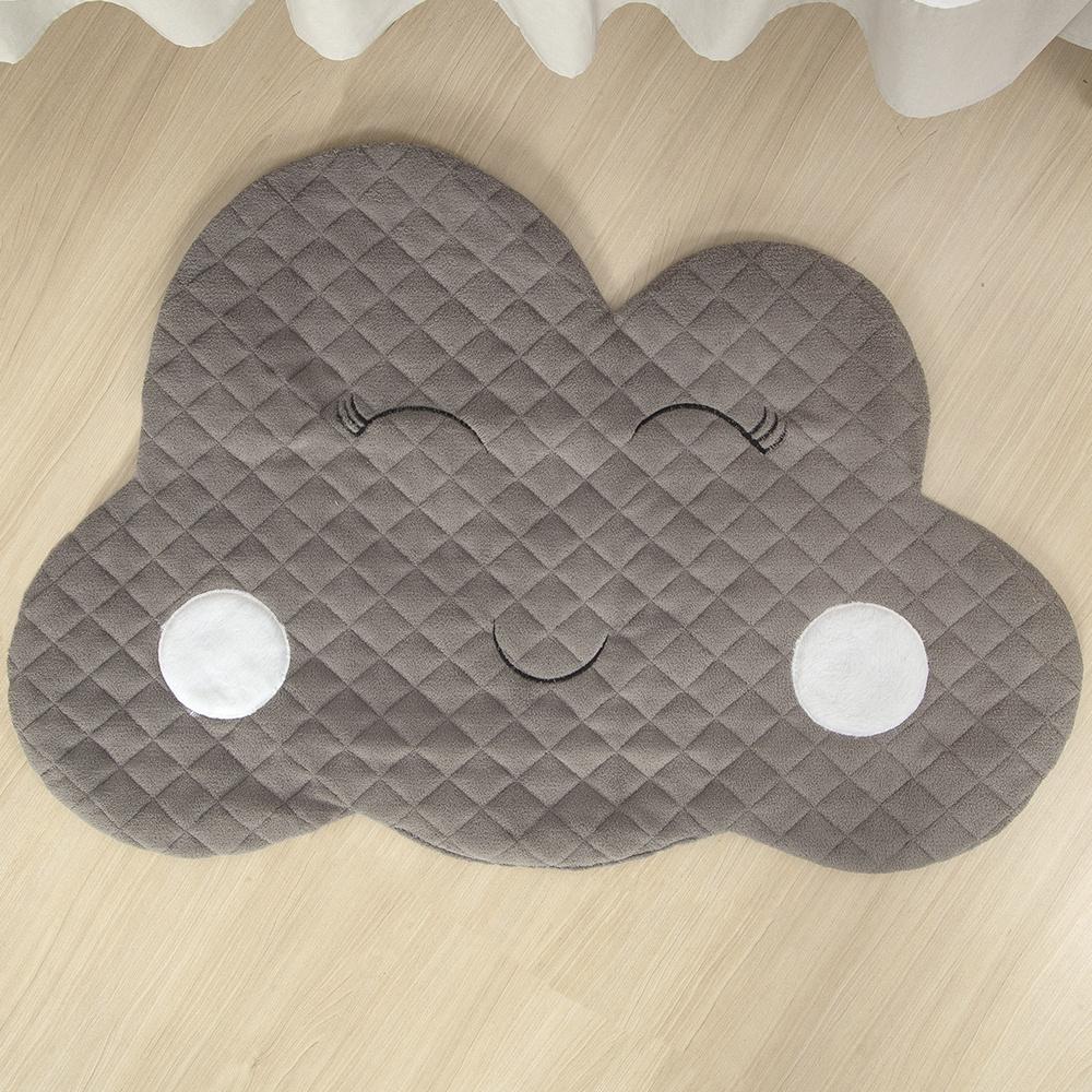 Tapete Para Quarto De Bebe 1,20m x 50cm Formato Nuvem - Cinza