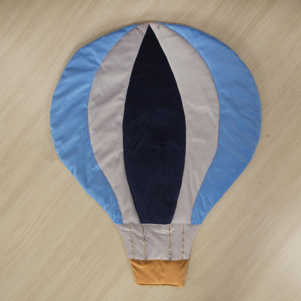Tapete Para Quarto De Bebe 1,20m x 50cm Matelado Formato Balao - Azul Marinho