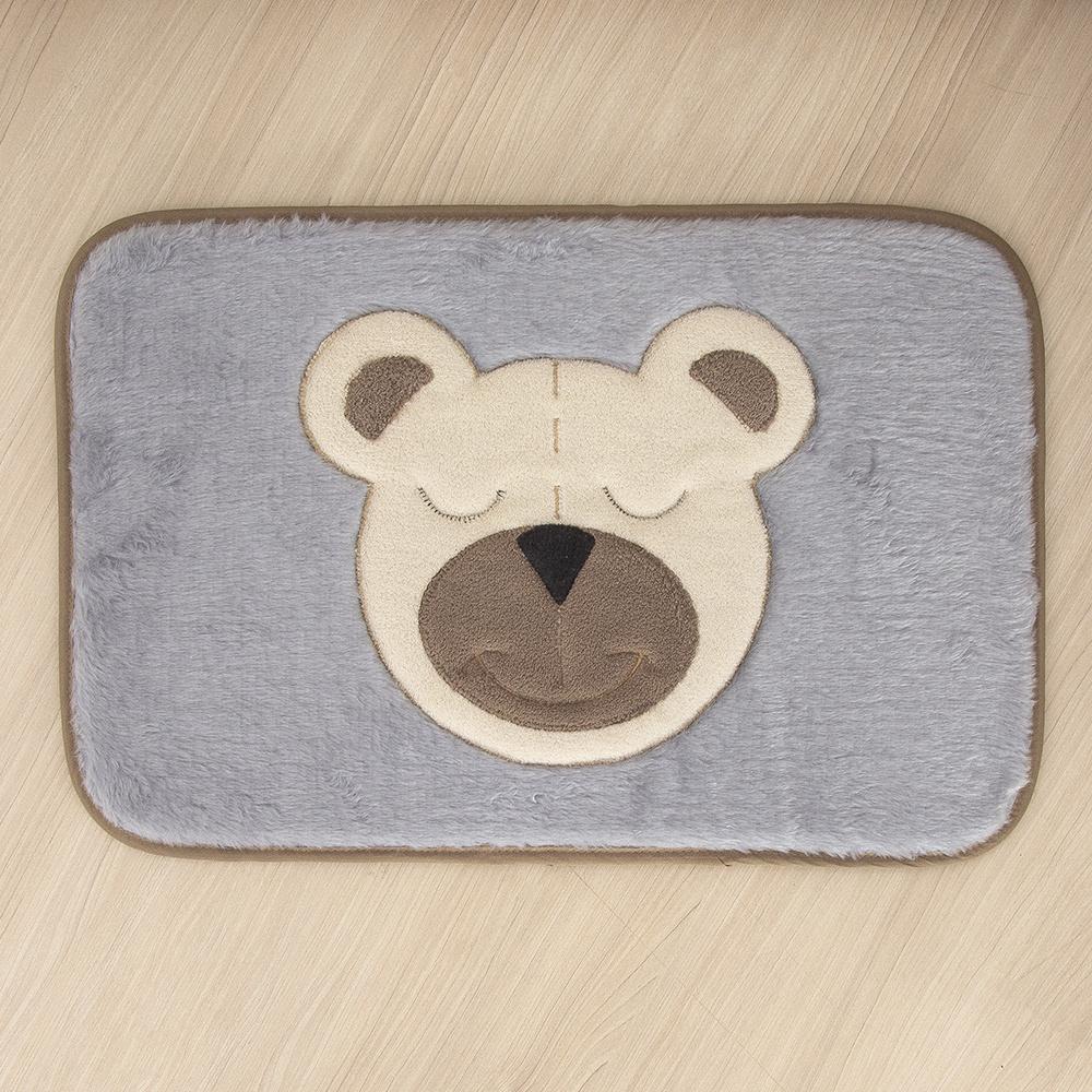 Tapete Para Quarto De Bebe 1,20m x 50cm Formato  Retangular Urso - Tabaco