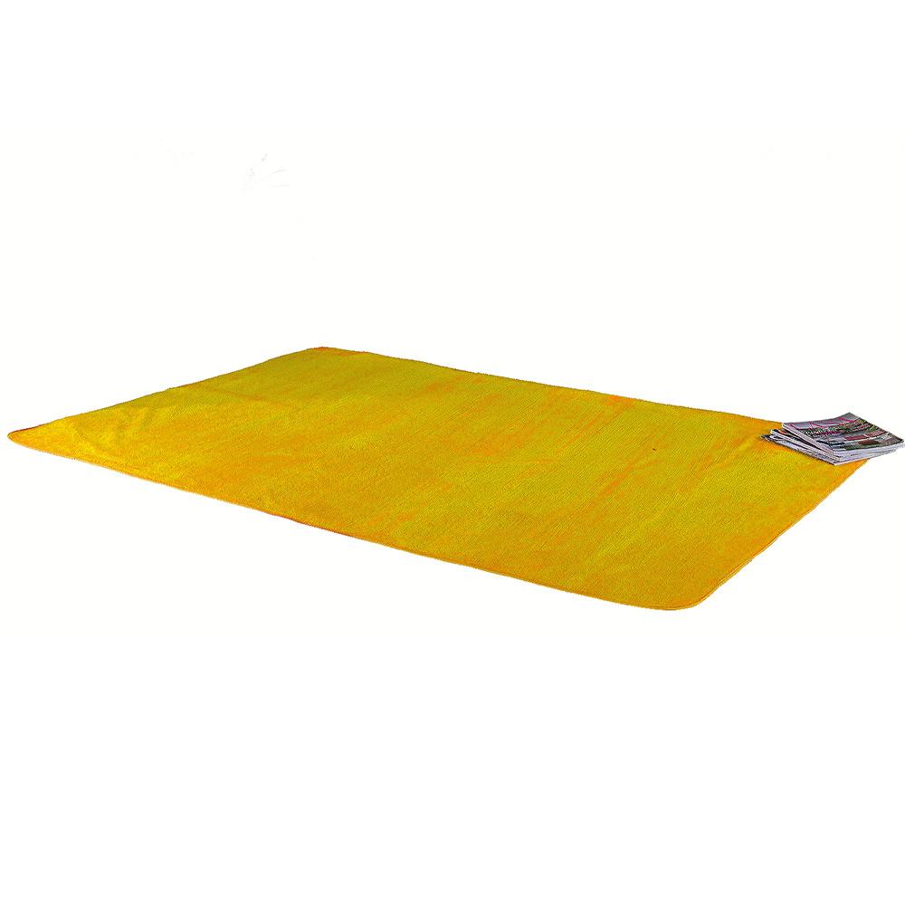 Tapete Retangular De Sala E Quarto 1,00m x 1,40m Pelúcia - Amarelo