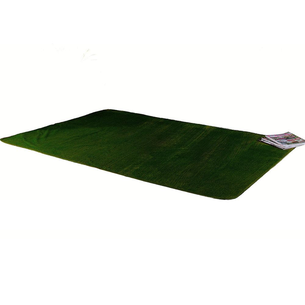 Tapete Retangular De Sala E Quarto 1,00m x 1,40m Pelúcia - Verde Musgo