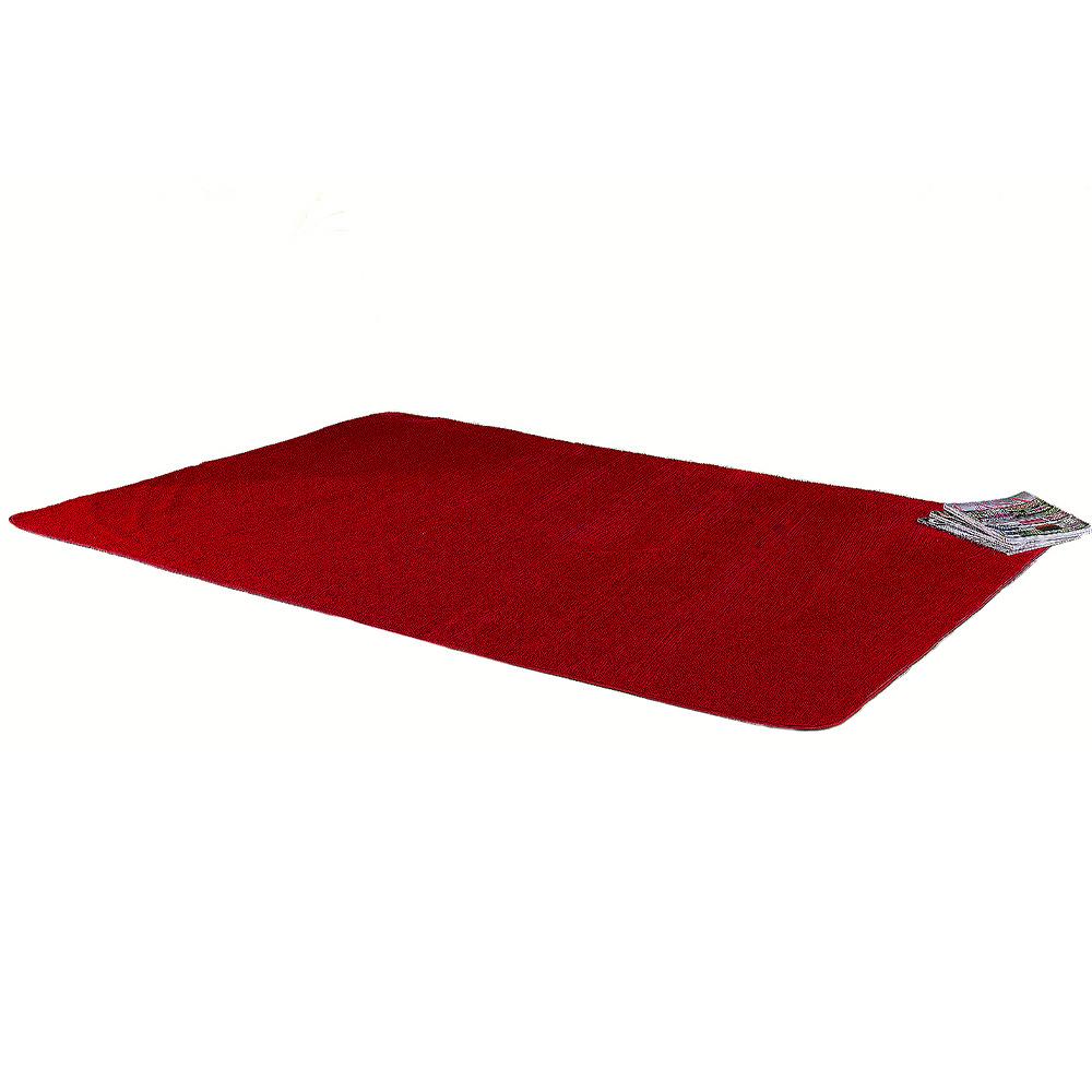 Tapete Retangular De Sala E Quarto 2,00m x 1,40m Pelúcia - Vermelho