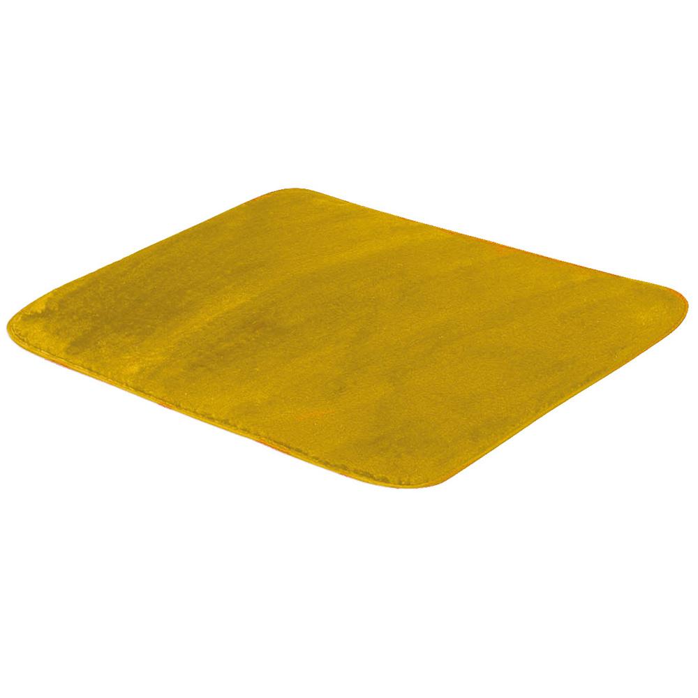 Tapete Retangular De Sala E Quarto 50cm x 1,00m Pelúcia - Amarelo