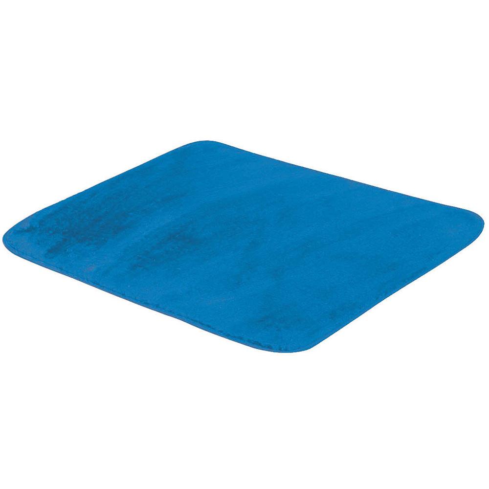 Tapete Retangular De Sala E Quarto 50cm x 70cm Pelúcia - Azul Turquesa