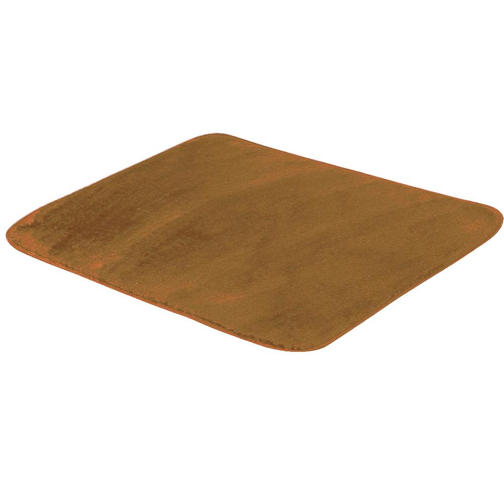 Tapete Retangular De Sala E Quarto 50cm x 70cm Pelúcia - Caramelo