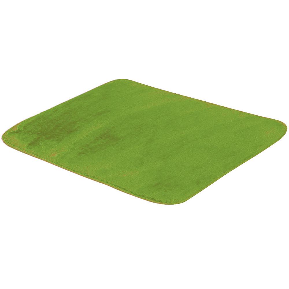 Tapete Retangular De Sala E Quarto 50cm x 70cm Pelúcia - Verde Pistache
