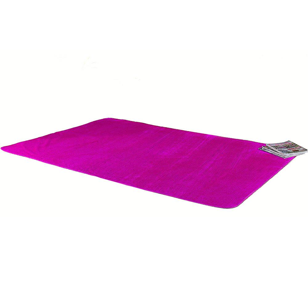 Tapete Retangular De Sala E Quarto 70cm x 1,40m Pelúcia - Pink