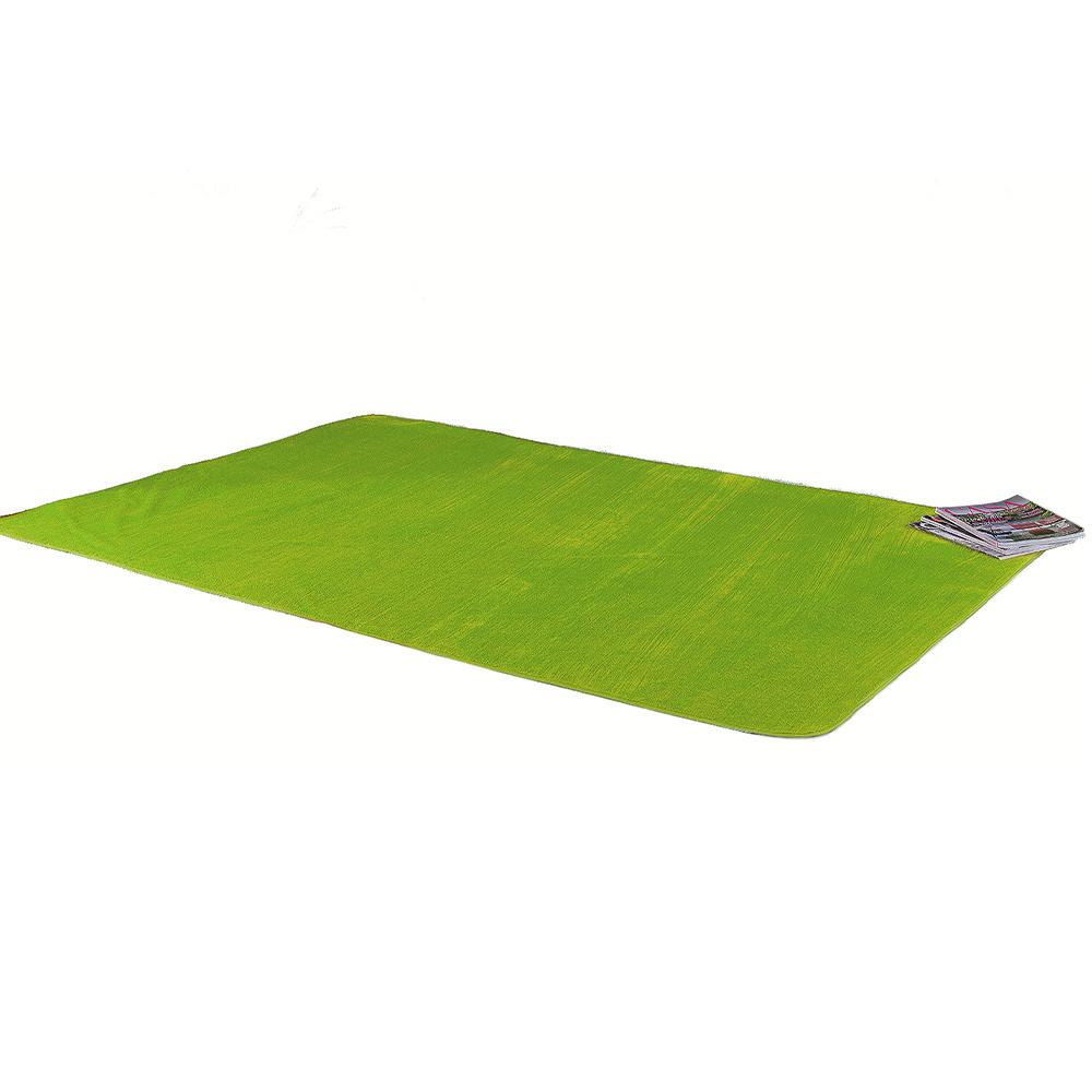 Tapete Retangular De Sala E Quarto 70cm x 1,40m Pelúcia - Verde Pistache