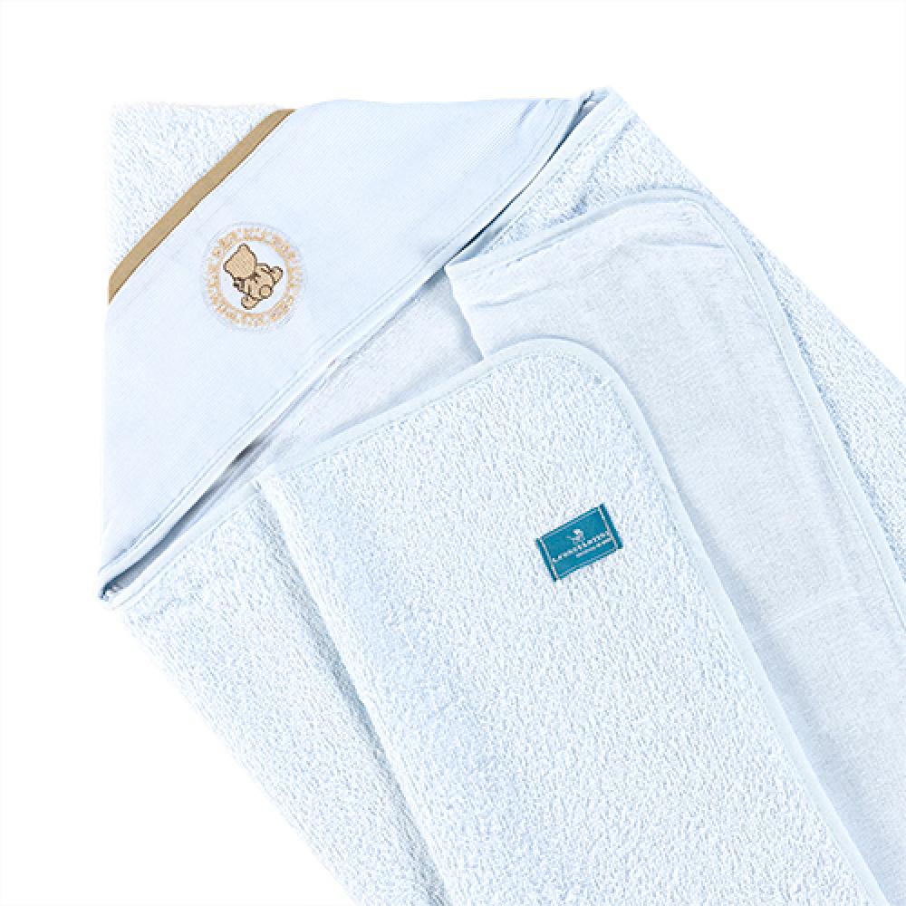 Toalha De Banho Bebê Com Capuz Tecido 100% Algodão Conforto - Ursinho Branco
