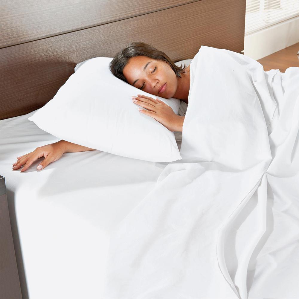 Travesseiro Supreme 70cm X 50cm Perfil Alto 100% Algodão Percal 180 Fios Com Enchimento De Silicone