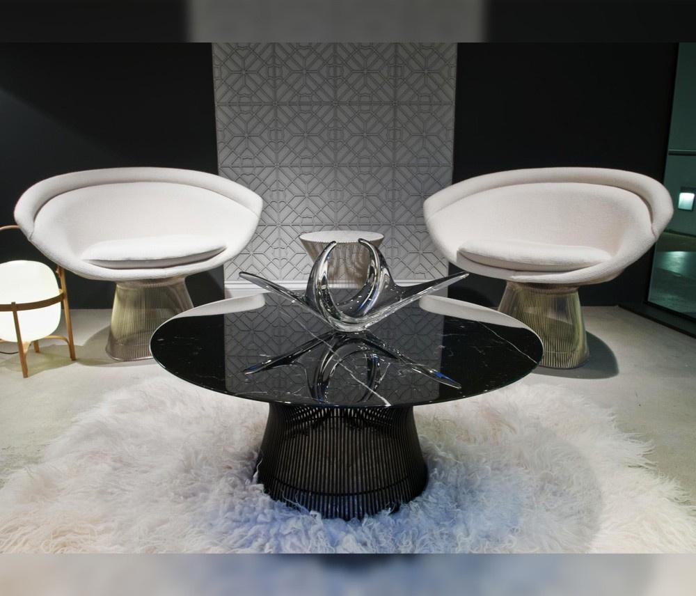 Poltrona Warren Platner Inox - Revestida - Essência Móveis de Design