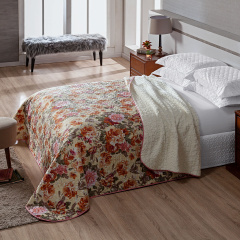Manta CASAL Patchwork Com Sherpa Toronto Floral Begee