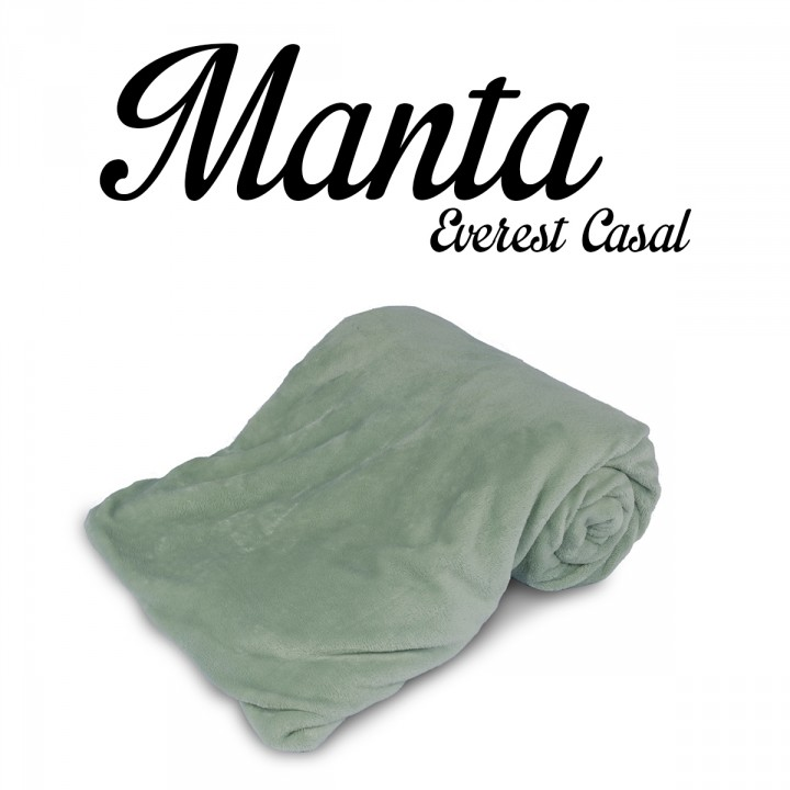 Manta CASAL Flannel Everest Verde