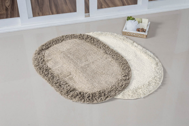 Tapete Soft Oval 70X52Cm Bege